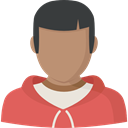 profile, Social, Avatar, Man, user IndianRed icon