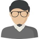 profile, Avatar, user, Man, Social DimGray icon