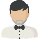user, Man, Social, Avatar, profile Beige icon