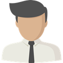 Man, profile, Avatar, user, Social Beige icon