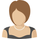 user, Avatar, profile, woman, Social BurlyWood icon