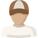 Avatar, Social, user, Man, profile SeaShell icon
