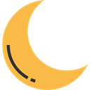 Half Moon, weather, Astronomy, nature, Crescent Moon, Moon Phases, Moon SandyBrown icon
