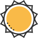 summer, Summertime, sun, warm, meteorology, weather, nature, Sunny SandyBrown icon