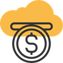 Cloud computing, corporation, Crowdfunding, investment, Business, Money, Business And Finance SandyBrown icon