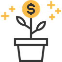 Money, Business And Finance, plant, growth, Business, investment, Bank, Currency Black icon