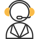 Telemarketer, Professions And Jobs, user, support, Headphones, customer service, Call, technology, Avatar, people, Microphone Black icon