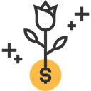 Business And Finance, growth, Commerce And Shopping, Money, Bank, plant, Currency, investment, Business Black icon