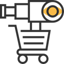 marketing, seo, shopping cart, Commerce And Shopping, commerce, telescope DarkSlateGray icon