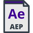 Archive, interface, Multimedia, Extension, File, computing, Ae, Format, document, Files And Folders Lavender icon