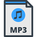music note, Mp3 Extension, musical note, Audio file, Files And Folders, mp3, interface, Mp3 File, Mp3 Format Lavender icon