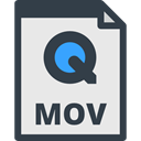 File, Mov, video, Multimedia, Files And Folders, document, Archive Lavender icon