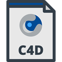 Format, Extension, document, File, C4d, Files And Folders Lavender icon