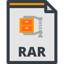File, computing, Multimedia, Files And Folders, Format, document, Archive, interface, Rar, Extension Gainsboro icon
