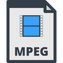 file format, video player, File Extension, Files And Folders, Mpeg Lavender icon
