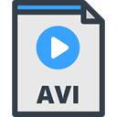 files, symbol, Files And Folders, interface, File Extension, Avi, File Formats, file format, video, File Lavender icon