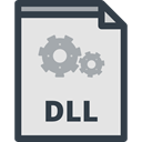 Files And Folders, Extension, Dll, Archive, document, File, Format Gainsboro icon