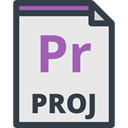 Pr, Files And Folders, File Extension, file format, video Lavender icon