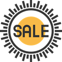 commerce, Badges, Commerce And Shopping, sticker, sale, Badge, online store, Sales DarkSlateGray icon