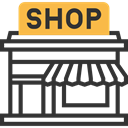 Shop, food, Business, commerce, store, Commerce And Shopping DarkSlateGray icon