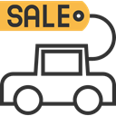Automobile, Car, Discount, vehicle, sale, Promotion, Commerce And Shopping, transportation DarkSlateGray icon