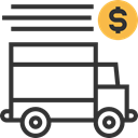 Delivery Truck, Automobile, transportation, Delivery, transport, Shipping And Delivery, Cargo Truck, truck, vehicle Icon