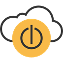 Energy, power button, networking, Computing Cloud SandyBrown icon