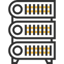Server, storage, network, technology, networking, Database, Multimedia, Hosting, Servers, files DarkSlateGray icon
