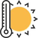 thermometer, Tools And Utensils, Fahrenheit, temperature, miscellaneous, Mercury, Celsius, Degrees SandyBrown icon