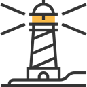 Orientation, Lighthouse, tower, Guide, Architecture And City, buildings DarkSlateGray icon