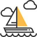 sailing, Sailboat, transportation, transport, sail, Boats, travel, Boat DarkSlateGray icon