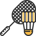 sports, Olympic Games, Shuttlecock, birdie, Sports And Competition, Badminton DarkSlateGray icon