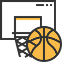 Sports And Competition, Sport Team, sports, team, equipment, Basketball DarkSlateGray icon