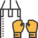 sports, fight, boxing, olympic, gloves, Sports And Competition, punch, Athlete DarkSlateGray icon