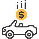 transport, Car, Currency, transportation, Dollar, Loan, vehicle, Automobile, Business And Finance, Money Black icon