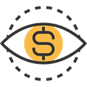 Business And Finance, focus, Eye, Money Black icon