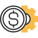 Business, profit, payment, Business And Finance, Get Money, Money, Coins Black icon