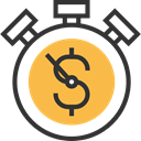 interface, Dollar, Tools And Utensils, stopwatch, timer, Business And Finance, time, Chronometer, Wait, Money SandyBrown icon