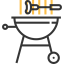 Barbecue, bbq, Tools And Utensils, Summertime, Food And Restaurant, grill, Cooking Equipment Black icon