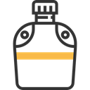 flask, water, thirst, canteen, Bottle, miscellaneous, Tools And Utensils Black icon