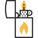 petrol, fuel, lighter, Tools And Utensils, gasoline, miscellaneous, Flaming Black icon