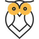 bird, owl, hunter, Animals Black icon