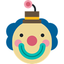 funny, head, Clown, interface, Face, Comedy, user, laughter Khaki icon