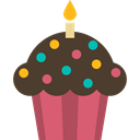 cupcake, Dessert, Bakery, food, sweet, Food And Restaurant, baked, muffin DarkOliveGreen icon