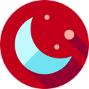 nature, Astronomy, weather, Moon Phases, Moon, Half Moon, meteorology, Moon Phase Firebrick icon
