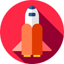 galaxy, Space Shuttle, transport, space, transportation Crimson icon