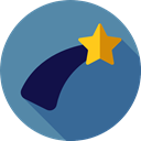 Astronomy, nature, universe, star, Shooting Star, weather SteelBlue icon