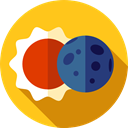 sun, space, weather, Astral, Eclipse, education, Moon Gold icon