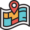 Maps And Flags, location, interface, position, Map, Geography, Orientation, Seo And Web Black icon