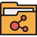 storage, file storage, Data Storage, interface, Office Material, Folder, Files And Folders SandyBrown icon